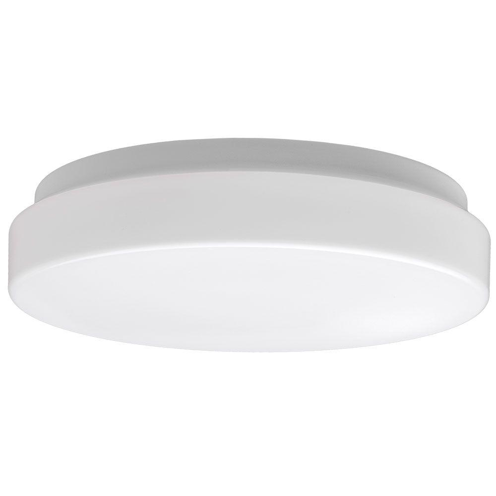 Commercial Electric 7 in. White LED Low Profile Light