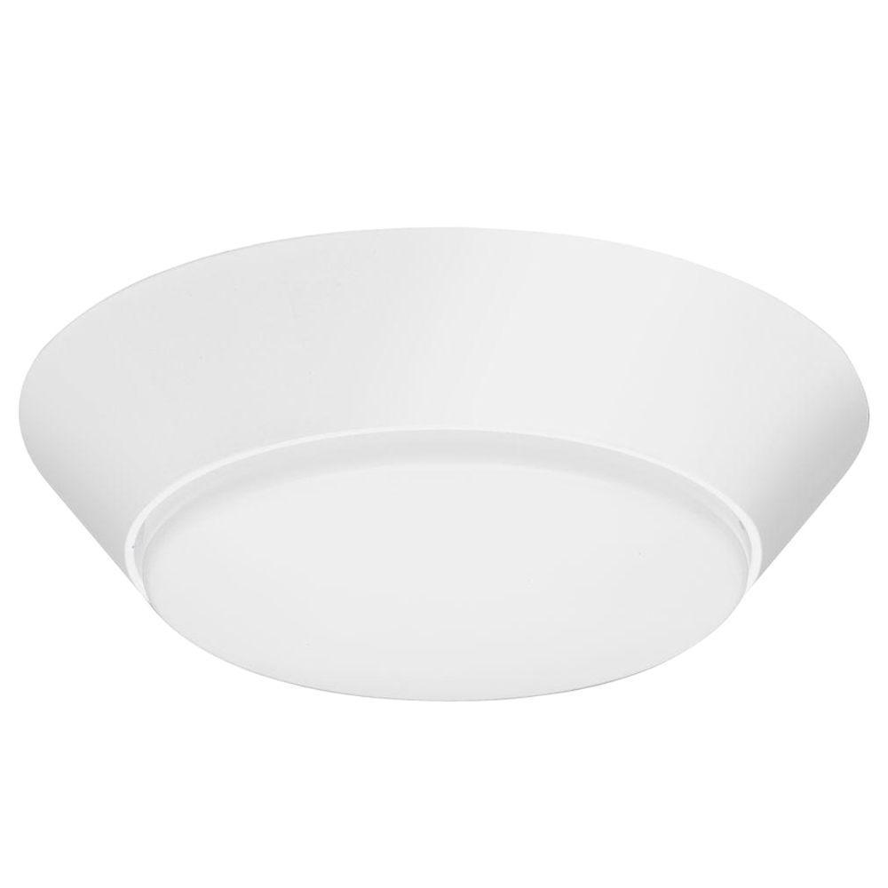 Lithonia Lighting Versi Lite 9-Watt Textured White Integrated LED Flushmount