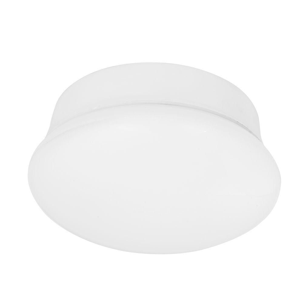 Commercial Electric 7 in. 60-Watt Equivalent Bright White Integrated LED Flushmount